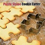 Bluelover Acier Inoxydable Puzzle Forme Cookie Cutter Fondant Cake Moule Outil De Décoration