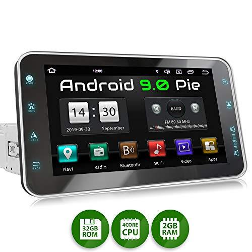 XOMAX XM-VA801 Autoradio mit Android 9, QuadCore, 2GB RAM, 32GB ROM, 8 Zoll / 20,3cm Touchscreen, GPS Navigation I Support: WiFi WLAN, 3G 4G, DAB+, OBD2 I Bluetooth, USB, SD, 1 DIN