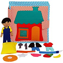 OH BOY! - 8 PAGE QUIET BOOK/ BUSY BOOK/ FELT BOOK/ FABRIC BOOK