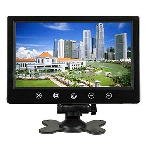 ePathChina® 9 Zoll 800 × 600 Pixel auflösenden TFT Farbe LCD Bildschirm Kissen Auto Rückspiegel Monitor unterstützt zwei Möglichkeiten zur Auswahl der Video-Ausgang Car V1/V2 widescreen Auto Rückfahrkamera Monitor mit Touch-Tasten und der Fernbedienung Funktion - 7-zoll-tv-monitor Hdmi