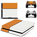 SKINOWN™ Sticker Skin Decal Cover for Sony PS4 PlayStation 4 Console and Controller- Two Tone