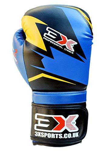 Professional Choice X3 'Best Boxhandschuhe für Sparring und in der Ausbildung der Kickboxing, und die, Unisex, Kinder, blau/schwarz, 340,2 g (12 oz)