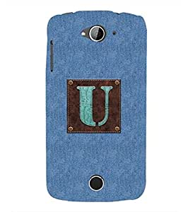 YuBingo Acer Liquid Z530 :: Acer Liquid Zade Z530S Designer Phone Back Case Cover ( Monogram with Beautifully Written Jeans and Macho Male Leather Finish letter U )