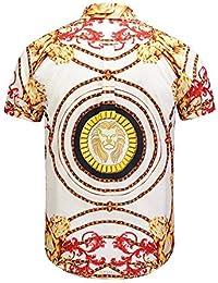 1efd42317 LHXWY Camisa Hawaiana De Manga Corta Colorido Flor Grande Verano Moda  Camiseta Camiseta Fiesta Impresión Elegante