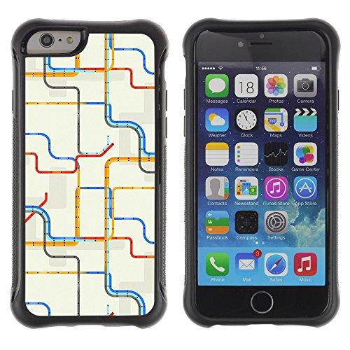 Graphic4You CHICKEN AND WAFFLES Muster Shockproof Anti-Rutsch Weichen Hülle Case Tasche Schutzhülle für Apple iPhone 6 Plus / 6S Plus Design #14