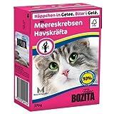 16 x Bozita Cat Tetra Recard Häppchen in Gelee Meereskrabben 370g, Nassfutter, Katzenfutter