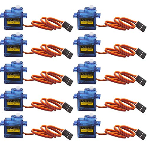 10 pcs SG90 9G Micro Servo Motor Kit for RC Robot Arm Helicopter Airplane Remote Control (Control Airplane Remote Kit)