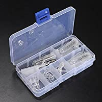 WeiMay Gafas Kit de surtido de herramientas de reparación óptica Juego de tornillos de tuerca