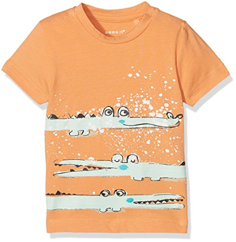 NAME IT Baby-Jungen T-Shirt Nbmdestin SS Top, Orange (Copper Tan), 68