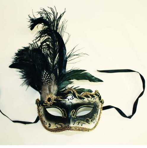 - Karneval Venezianische Maske Feder