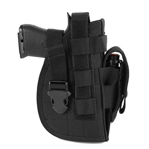 Etophigh Tactical Advanced 1000D Nylon Universal Right Hand Molle Modular Pistol Airsoft Waist Belt Hunting Tool Gun -