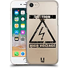 Head Case Designs Alto Voltagio Simboli Di Pericolo 2 Cover Retro Rigida per Apple iPhone 7 / 8