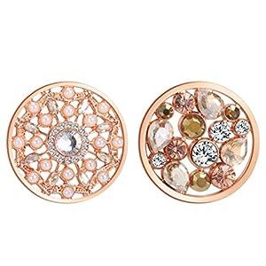 U&D Coins 33mm Kette Rose Gold Anhänger Modeschmuck Damen Ketten Set 33-2CO-15