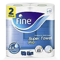 Fine, Paper Towel - Super Towel Pro, Sterilized, 70 Sheets x 3 Ply, pack of 2 rolls