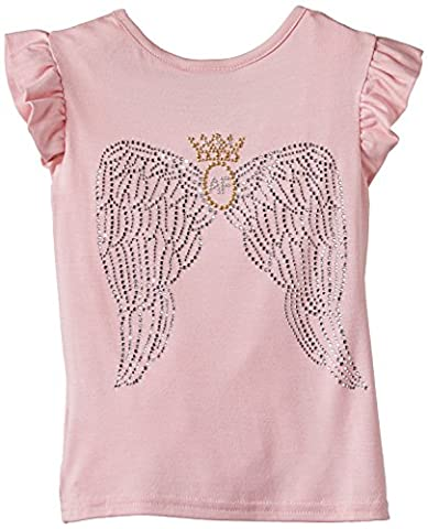 Angels Face Royal Wings Rose Pink T Shirt - Size