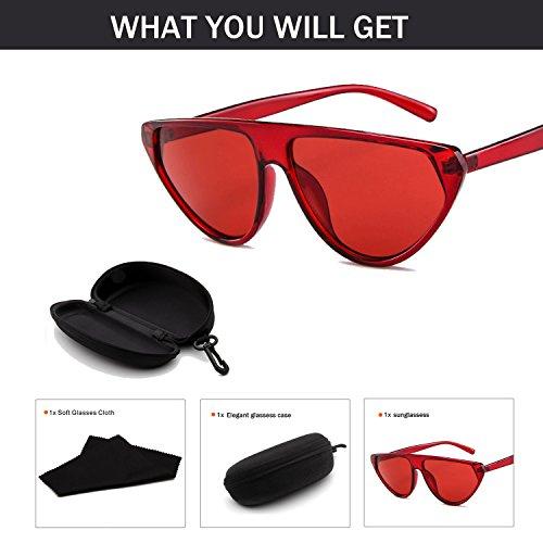 Junjiagao Sonnenbrille für Frau Runde Sonnenbrille Transparent Candy Farbe Brillen (Color : NO.7)