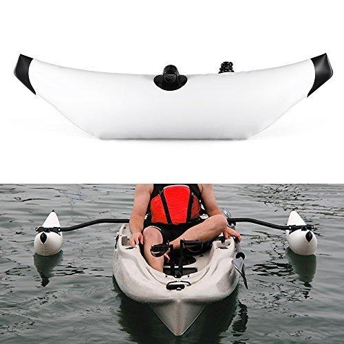 Este estabilizador es fácil de inflar y proporcionar una plataforma estable para hacerte sentir seguro cuando kayak, canotaje, canotaje.Especificaciones: Material: PVC Tamaño: 89 * 27.5 cm/35 * 10.8 in Peso: 597g/1.3 lbLista de paquetes: 1* Canoas ka...