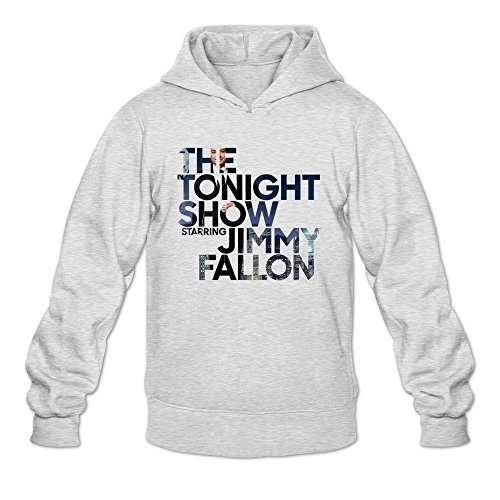 aopo die Tonight Show mit Jimmy Fallon Herren Long Sleeve Sweatshirt mit Kapuze/Hoodie Medium asche (Asche-raglan-t-shirt)