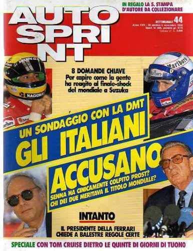 Autosprint Auto Sprint 44 Ottobre Novembre 1990 Senna Prost, Sainz, Cruise