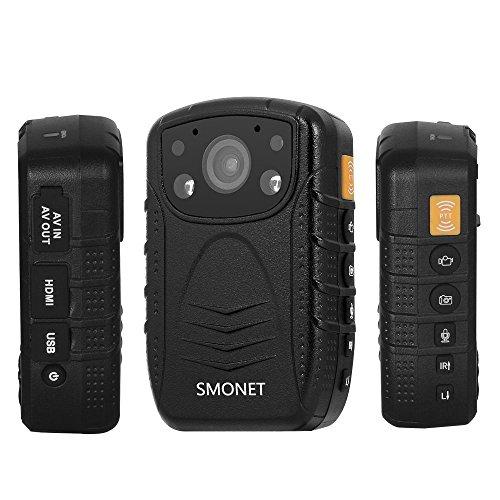 Smonet 1296P HD Police Body Camera, Multi-functional Body Worn Camera with 32GB Memory
