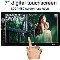 KKMOON 7 Pulgadas Universal 2 DIN HD Con Bluetooth Para Coche Radio, Reproductor Multimedia TF MP5 Entretenimiento Radio FM Con USB y Entrada Aux 7010B