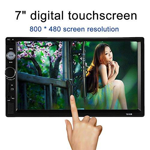 KKmoon 7 inch Universel 2 Din HD Voiture Autoradio Lecteur BT DVD USB/TF/FM/MP5 Aux In avec HD camera de recul ecran tactile
