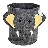 Fieans Kinder Spielzeug Aufbewahrungskorb Faltbare Filz Aufbewahrungsbox Groß Deko Filzkorb Kinderzimmer Organizer Zeitschriftenbeutel Zeitungskorb - Elefant