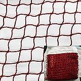 JIN CAN- Filet de Badminton en Nylon tressé en Rouge pour Sports d'intérieur ou...