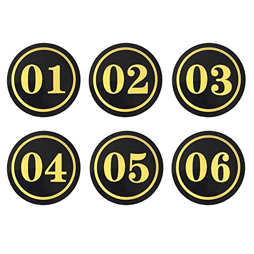 aspire (Lot de 20 numéros de Acrylique Sign, Nombre Tag, 3-1/12,7 cm L x 5,1 cm L, Round, 1to20