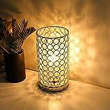 Albrillo Kristall Tischlampe Kugel, Klassische Dekorative Nachttischlampe mit E27 Fassung, Design LED Tischlampe mit 153 Kristalle als Geschenke und Deko für Wohnzimmer, Schlafzimmer