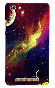 Meraki Silicone Soft Printed Back Cover For Samsung Gionee Marathon M5 Lite