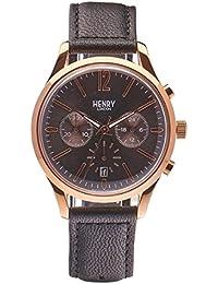 Henry London ltext-Orologio da polso cronografo Finchley al cuoio HL39 - CS-0122 (Ricondizionato Certificato)