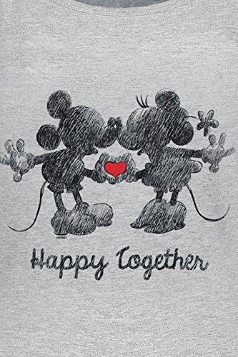 Micky & Minni Maus Happy Together Girl-Top grau meliert Grau Meliert