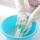 Moda Hogar Engrosadas Guantes Impermeables Multicolor Establecen Dos Meses,Green-32.5*10.5cm