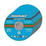 Silverline 199875 Stone Cutting Discs Flat, 115 x 3 x 22.2 mm - Pack of 10