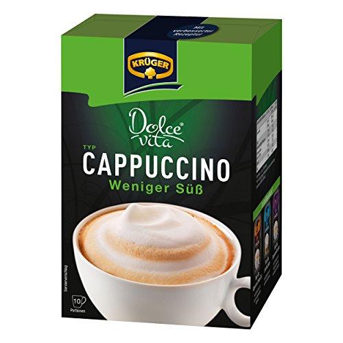 Krüger Dolce Vita Cappuccino, Weniger Süß, Milchkaffee, Milch Kaffee aus löslichem Bohnenkaffee,...