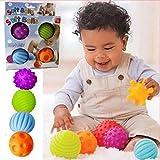 Fengh 4sensorische Bälle für Kleinkinder, für Handmassagen, zum Fangen, Sensorische Bälle mit Soundeffekt, Spielzeug für Kleinkinder