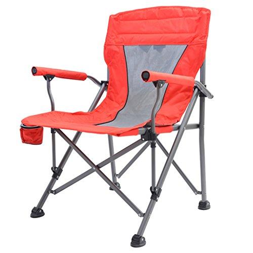 Y HWZDY Camping klappstuhl Leichte, langlebige Outdoor-Sitz - Perfekt für Camping, Festivals, Garten, Caravan Trips, Angeln, Strand, BBQs (Farbe : Rot)