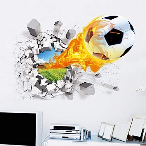 WCYLD Wandaufkleber 3D Wandaufkleber Raum Sport Dekoration Wandhaupt Abziehbilder Tapete