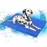 Hunde Katze Pet Kühlmatte Kühldecke Kühlkissen Selbstkühlende Fussboden Gel Hundematte Matte Cool Mat - Sea Blau 90x50x2 CM