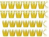 FiveSeasonStuff 24 Pcs Glitter (oro) Principessa + Principe Party/Cappelli per feste per bambini e adulti di tutte le età