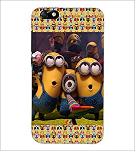 PrintDhaba Minions D-4612 Back Case Cover for HUAWEI HONOR 4X (Multi-Coloured)