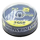 Platinum BD-R Speed 6 x 25GB Cake Box (Pack of 25)