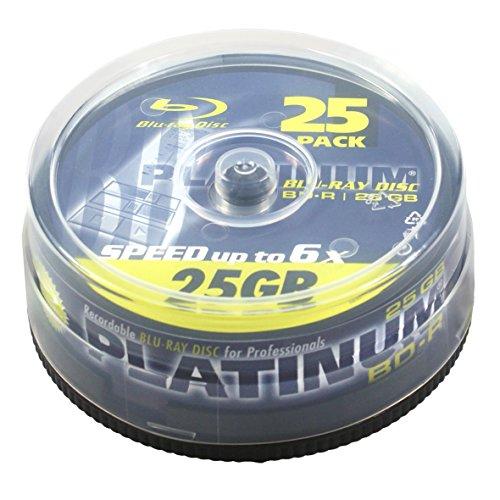 Platinum 25GB BD-R Blu-ray Rohlinge (6x Speed) in 25er Spindel