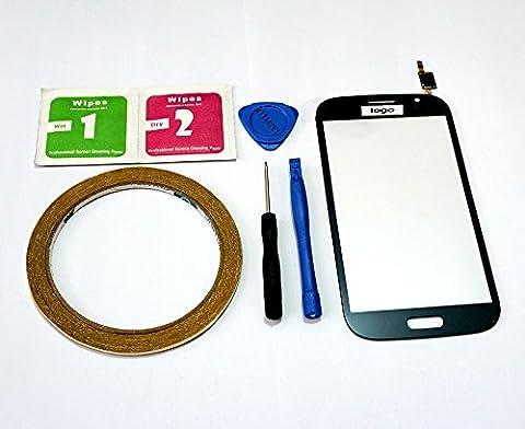 MIYI Neuf Ecran Vitre Tactile Noir de Remplacement pour Samsung Galaxy Grand Neo Plus GT-i9060i i9060i + Adhésif + Kit outils + Kit de nettoyage