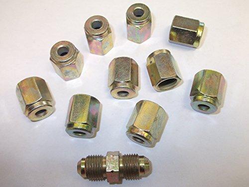 Lot de 40/30/m/âle 10/Tube de frein femelle des Syndicats /Écrous Extr/émit/és 10/mm x 1/mm de long