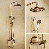 HJ . Luxus warme und kalte kontinentale antiken Dusche warm / kalt Wasserhahn Kupfer Wand Duscharmaturen