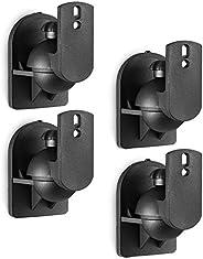 دعامات الحائط WALI مزدوجة لمكبر الصوت قابلة للتركيب على الحائط متعددة لرف الكتب، سماعات صوت محيطي، تتحمل حتى 3