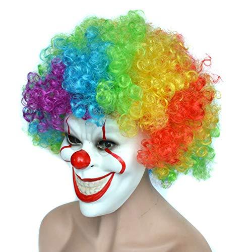 Hlzf Full Face Clown Horrormaske Halloween Scary Maske -