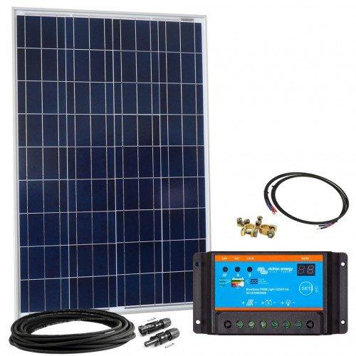 Offgridtec Solar Bausatz 100 wp - 12 V Solaranlage, Solarmodul und Steca Solarladeregler 8A, 002640